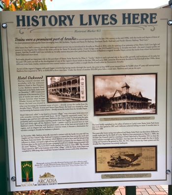 arcadia history marker