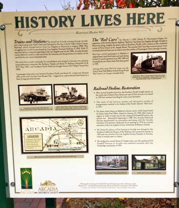 city of arcadia historical marker