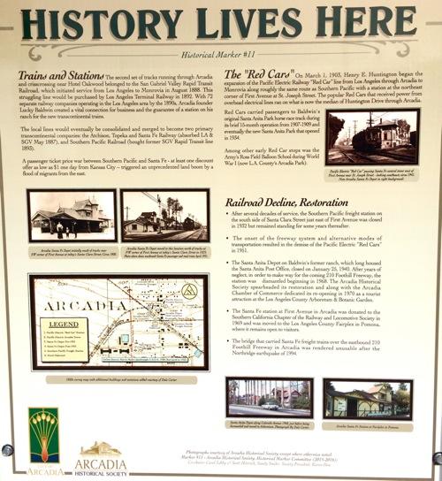Arcadia Historical Marker No. 11a